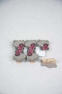 kaartknijpers 'beertje roze'