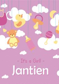 Poster met naam 'clouds girl'