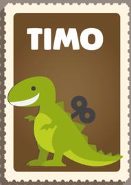 Poster met naam 'dino'