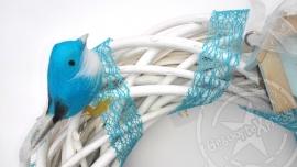 Blauw vogeltje ter decoratie