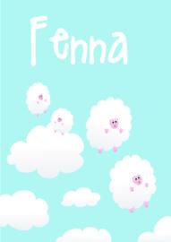 Poster met naam 'schaapjeswolken'