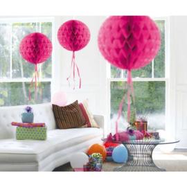 honeycomb ballen donker roze 30 cm