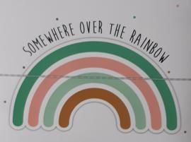 Paper garland ''rainbow''  2,5 meter