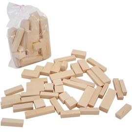 Blokken in plastic zak groot; 44 blokken