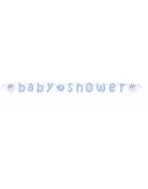 Babyshower slinger- wenslijn olifant blauw