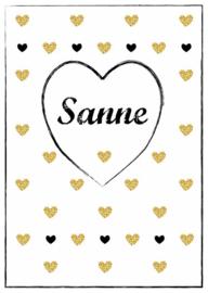 Poster met naam 'hearts'