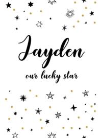 Poster met naam 'stars'