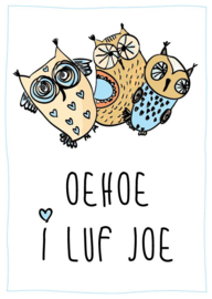 Poster met naam 'owl'