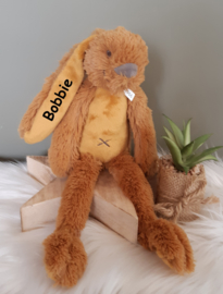 ''Happy Horse'' tiny konijn Richie knuffel met NAAM oker