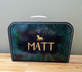 Koffertje met naam *Jungle Look*  diverse kleuren
