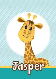 Poster met naam 'giraffe'