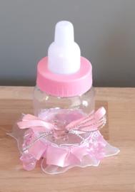 Luxe papflesje roze als kransdecoratie
