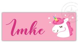 Kunststof naambordje  geboorte unicorn meisje
