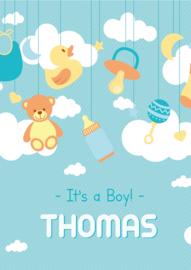 Poster met naam 'clouds boy'