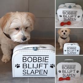 koffertje 'hond/kat  blijft slapen'