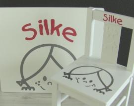 Tafel- en stoeltje met naam