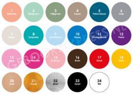 Sticker rond diverse kleuren