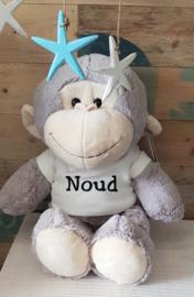 Knuffel aap met naam