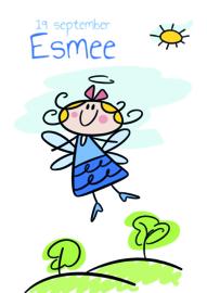 Poster met naam 'engeltje'