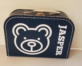 Koffertje met naam *Beertje* diverse kleuren