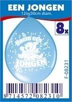 ballonnen jongen 8 stuks