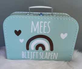 Koffertje *regenboog-hartjes * BLIJFT SLAPEN diverse kleuren