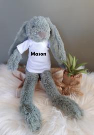''Happy Horse'' tiny konijn Richie knuffel met NAAM groen