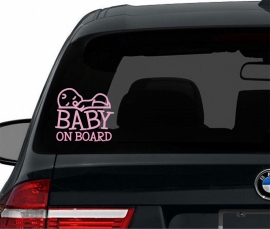 Autosticker Baby on board - Jongen of Meisje