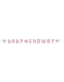 Babyshower slinger- wenslijn olifant roze