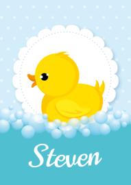 Poster met naam 'duckie'