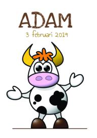 Poster met naam 'koe'