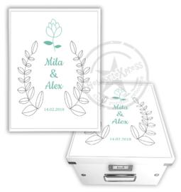 Herinneringsdoos voor bruiloft 'bloem'