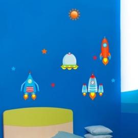 Muurstickers ufo's