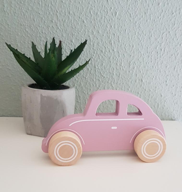 Little Dutch houten auto roze met of zonder naam
