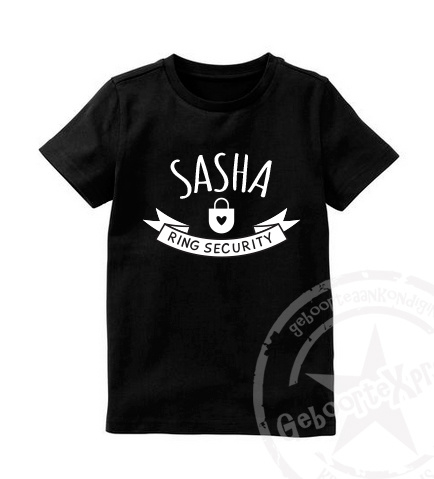 Ring Security T-Shirt met naam