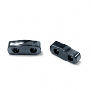 Miyuki  Quarter Tila 5 x 1,2 mm Kralen - 464 Metallic light gunmetal