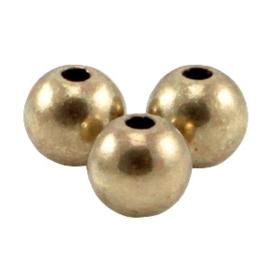 DQ metaal kraal rond 3mm Antiek brons (nikkelvrij)