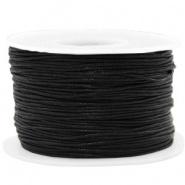 Waxkoord Zwart 1,0 mm