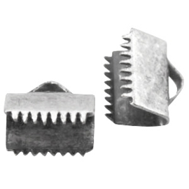DQ lintklem 8 mm Antiek Silver plated