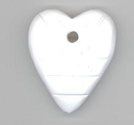 Houten hart wit 40 x 45 mm
