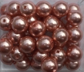 Glasparel rose peach 6 mm, per stuk