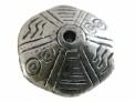 Metallook kraal disc bewerkt 11 x 22 mm