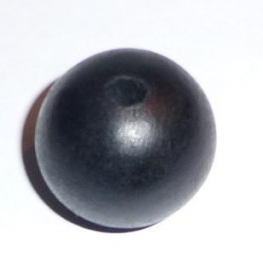 Houten bol zwart (30 mm)
