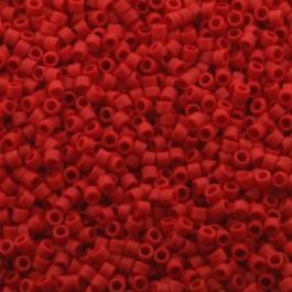 Miyuki Delica 11/0 DB-0753 Opaque Matte Red ca. 2½ gram