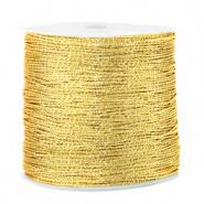 Macramé draad metallic 0.5mm Cornsilk gold