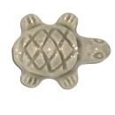 Keramiekkraal schildpad lichtgrijs 20 x 15 mm