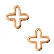 Bedels DQ metaal kruis Rosé goud (nikkelvrij)
