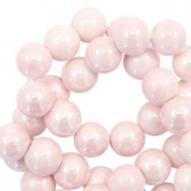Kralen keramiek 6mm Light pink