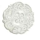 Kunststof kraal plat wit, Barok style 20 mm