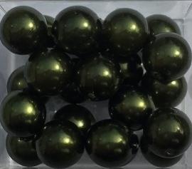 Glasparel donker groen 8 mm, per stuk